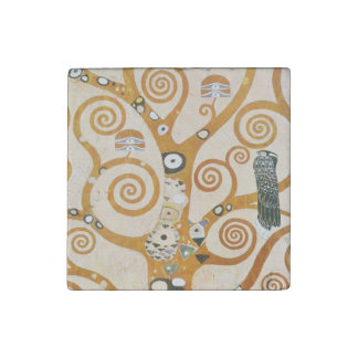 Gustav Klimt The Tree Of Life Art Nouveau Stone Magnets