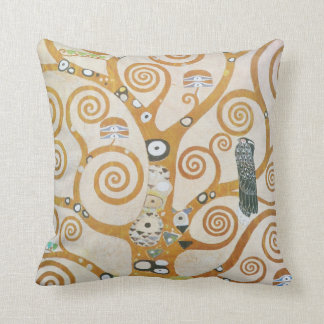 Gustav Klimt The Tree Of Life Art Nouveau Throw Pillow