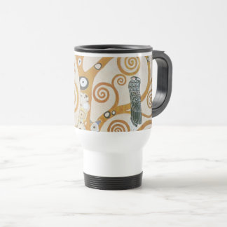 Gustav Klimt The Tree Of Life Art Nouveau Travel Mug