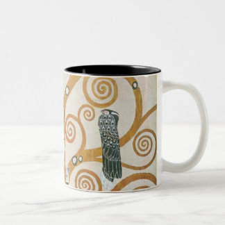 Gustav Klimt The Tree Of Life Art Nouveau Two-Tone Coffee Mug
