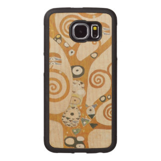 Gustav Klimt The Tree Of Life Art Nouveau Wood Phone Case