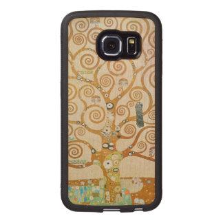 Gustav Klimt The Tree Of Life Art Nouveau Wood Phone Case