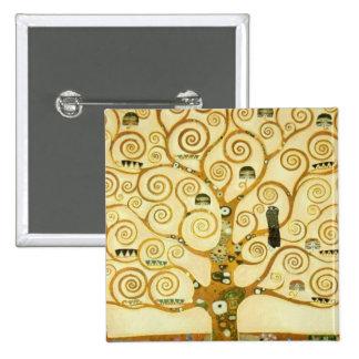 Gustav Klimt The Tree Of Life Vintage Art Nouveau 2 Inch Square Button