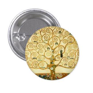 Gustav Klimt The Tree Of Life Vintage Art Nouveau 1 Inch Round Button