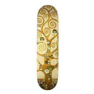 Gustav Klimt The Tree Of Life Vintage Art Nouveau Skateboard Deck