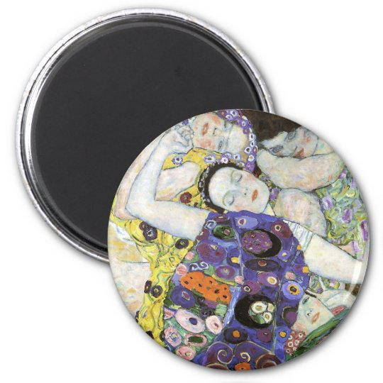 Gustav Klimt ~ The Virgin 2 Inch Round Magnet