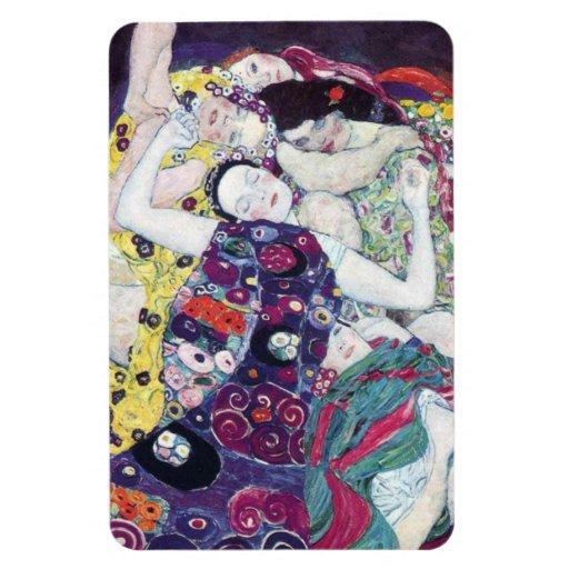 Gustav Klimt The Virgin Magent Vinyl Magnets