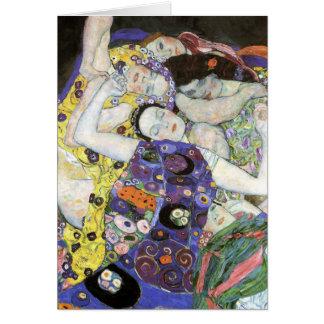 Gustav Klimt - The Virgin Oil Card
