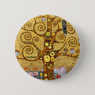 """Gustav Klimt, """"Tree of life"""" 2 Inch Round Button"""