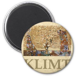Gustav Klimt Tree Of Life 2 Inch Round Magnet
