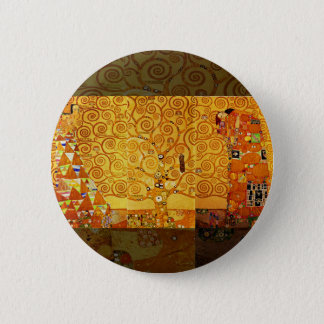 Gustav Klimt Tree of Life Art Nouveau Art Print 2 Inch Round Button