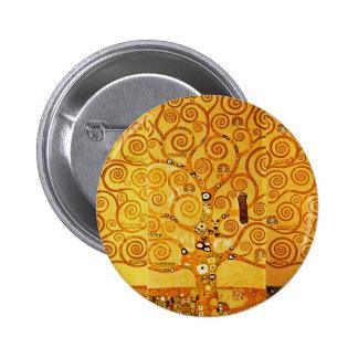 Gustav Klimt Tree of Life Art Nouveau 2 Inch Round Button