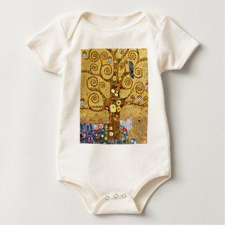 """Gustav Klimt, """"Tree of life"""" Baby Bodysuit"""