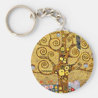 """Gustav Klimt, """"Tree of life"""" Basic Round Button Keychain"""