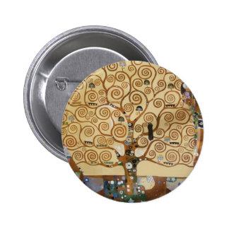 Gustav Klimt Tree Of Life Pinback Buttons