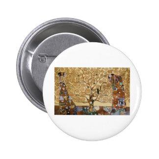Gustav Klimt Tree Of Life Buttons