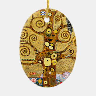 "Gustav Klimt, ""Tree of life"" Ceramic Ornament"