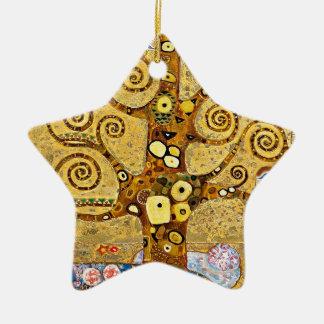 "Gustav Klimt, ""Tree of life"" Ceramic Star Ornament"