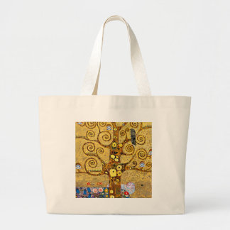 "Gustav Klimt, ""Tree of life"" Large Tote Bag"