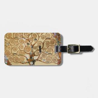 Gustav Klimt Tree Of Life Luggage Tag
