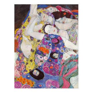 Gustav Klimt Virgins Postcard