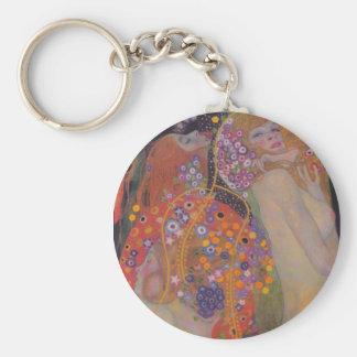 Gustav Klimt Water Snakes II Key Chain