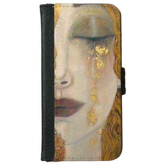 Gustav Klimt Woman Crying Wallet Case iPhone 6 Wallet Case