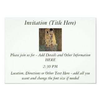 "Gustav Klimt's The Kiss (circa 1908) 4.5"" X 6.25"" Invitation Card"