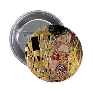 Gustav Klimt's The Kiss Detail (circa 1908) 2 Inch Round Button