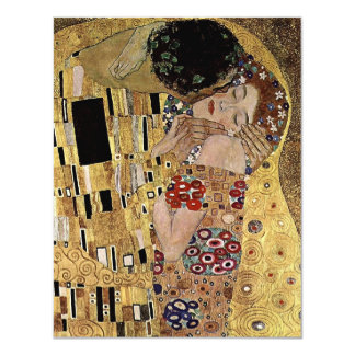 "Gustav Klimt's The Kiss Detail (circa 1908) 4.25"" X 5.5"" Invitation Card"