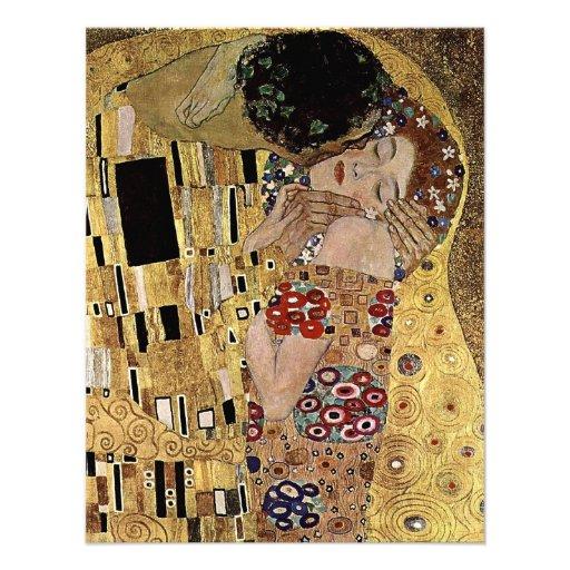 Gustav Klimt's The Kiss Detail (circa 1908) Personalized Invites