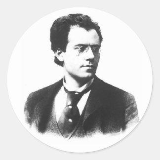 Gustav Mahler Classic Round Sticker