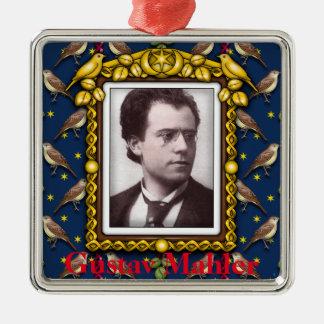 Gustav Mahler Silver-Colored Square Ornament