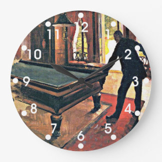Gustave Caillebotte art: Billiards Large Clock