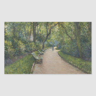 Gustave Caillebotte - Le Parc Monceau Sticker