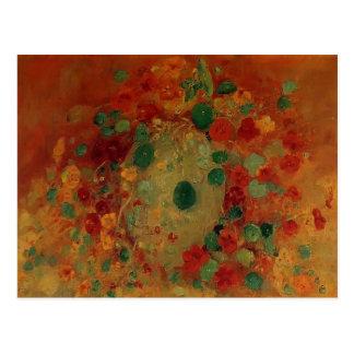 Gustave Caillebotte- Nasturtiums Postcard