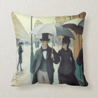 Gustave Caillebotte PARIS STREET, RAINY DAY 1877 Throw Pillow
