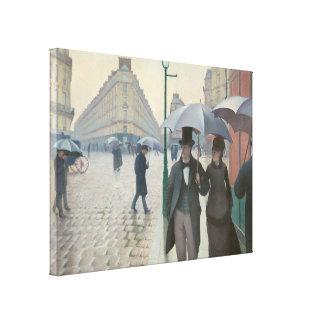 Gustave Caillebotte - Paris Street; Rainy Day Canvas Print