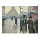 Gustave Caillebotte - Paris Street; Rainy Day Postcard