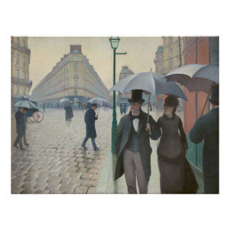 Gustave Caillebotte - Paris Street; Rainy Day Poster