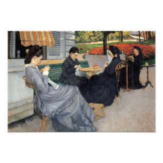 Gustave Caillebotte - Portraits in the Countryside Photo Print