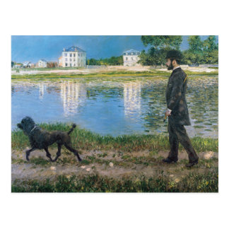 Gustave Caillebotte - Richard Gallo and His Dog Postcard