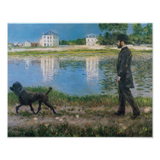 Gustave Caillebotte - Richard Gallo and His Dog Poster