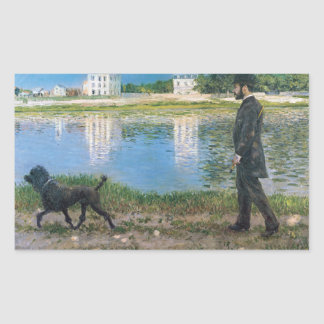 Gustave Caillebotte - Richard Gallo and His Dog Sticker