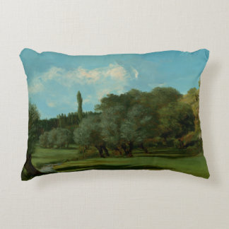 Gustave Courbet -La Bretonnerie in the Department Decorative Pillow