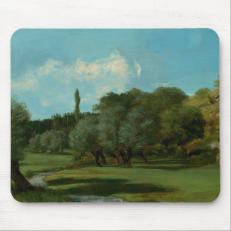 Gustave Courbet -La Bretonnerie in the Department Mouse Pad