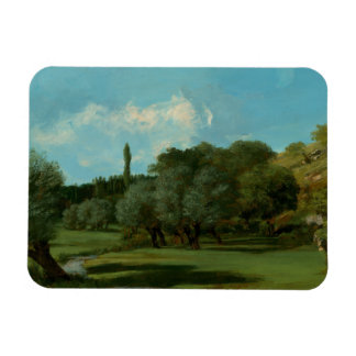 Gustave Courbet -La Bretonnerie in the Department Rectangular Photo Magnet