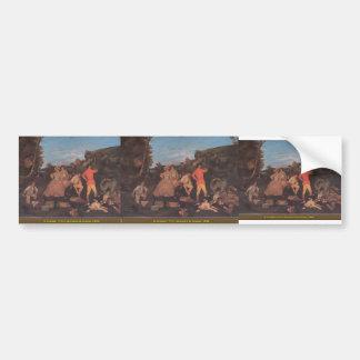 Gustave Courbet- The Huntsman's Picnic Bumper Sticker