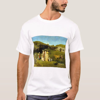 Gustave Courbet Young Ladies of the Village T-Shirt