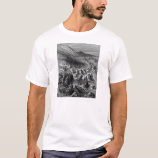 Gustave Dore:Crusaders surrounded by Saladins army T-Shirt